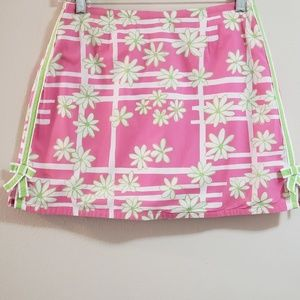 Lilly Pulitzer Skort, Pink/Green, Sz 16